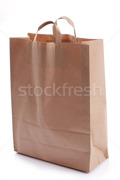 paper bag, over white Stock photo © Tatik22