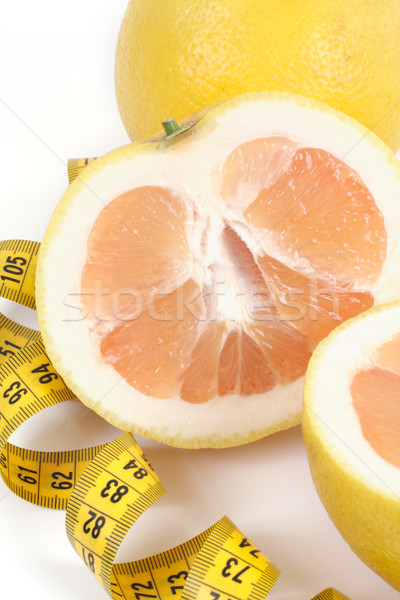 Grapefruit Zentimeter Studio isoliert weiß Band Stock foto © Tatik22