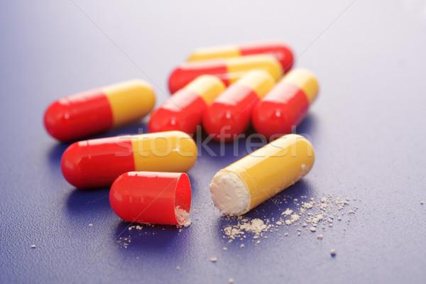 Yalıtılmış mavi tıbbi yardım renk ağrı Stok fotoğraf © Tatik22