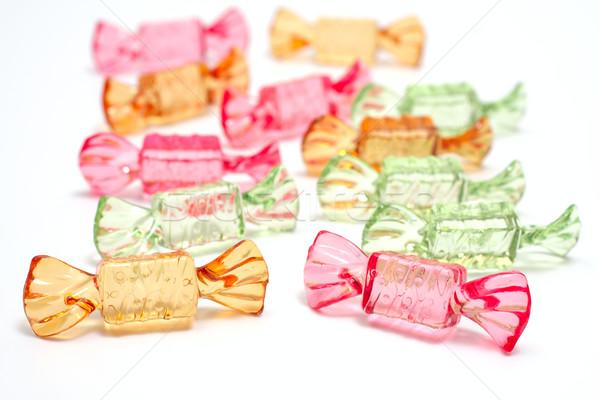 şekerleme nesneler beyaz şeffaf renk şeker Stok fotoğraf © Tatik22