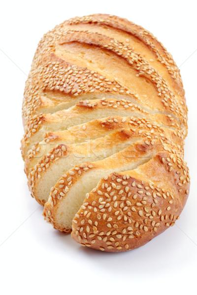 Bread with a sesame, over white Stock photo © Tatik22