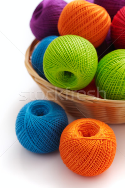 Several balls for crochet Stock photo © Tatik22