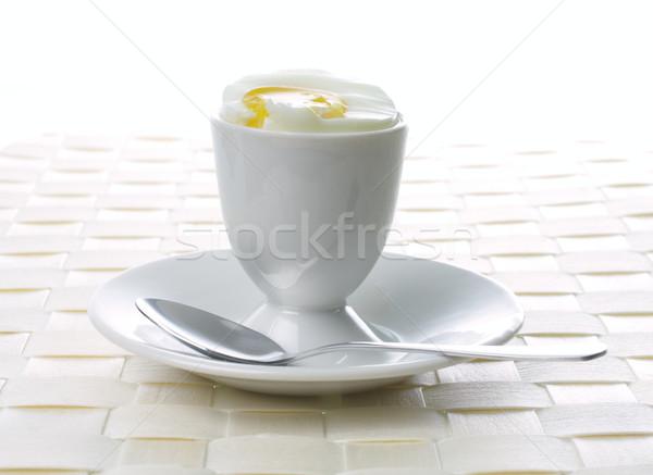 エッグカップ スプーン 食品 ストックフォト © Tatik22