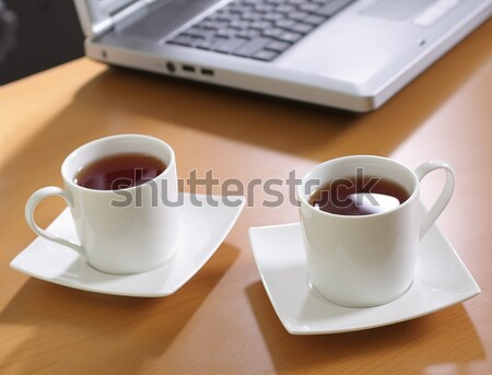 çay ofis beyaz fincan Stok fotoğraf © Tatik22
