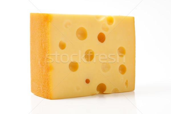 Peynir yalıtılmış beyaz gıda arka plan Stok fotoğraf © Tatik22