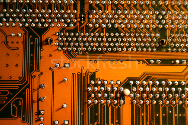 computer board with chips and components. Stock photo © Tatik22