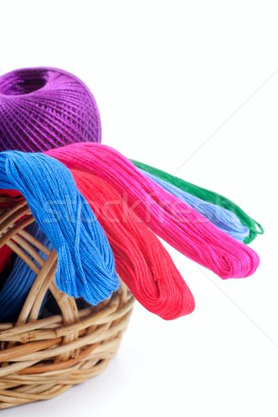 異なる 色 刺繍 バスケット スタジオ 孤立した ストックフォト © Tatik22
