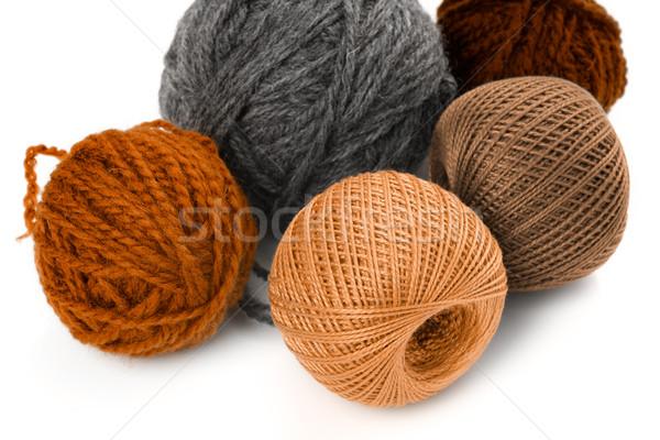 Pochi lana bianco sfondo palla Foto d'archivio © Tatik22