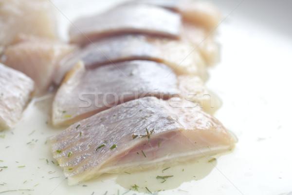 pieces of herring. studio isolated. Stock photo © Tatik22