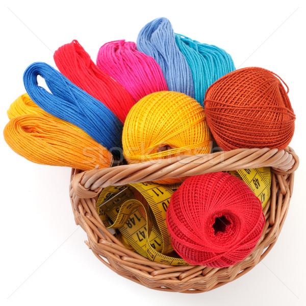 Gekleurd handwerk mand witte oranje groene Stockfoto © Tatik22
