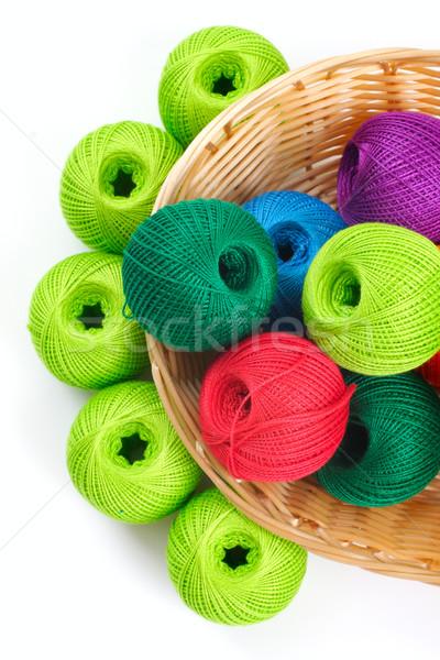 Mand handwerk draad ambachten naaien witte Stockfoto © Tatik22