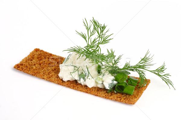 Delicioso requesón hinojo aislado blanco alimentos Foto stock © Tatik22