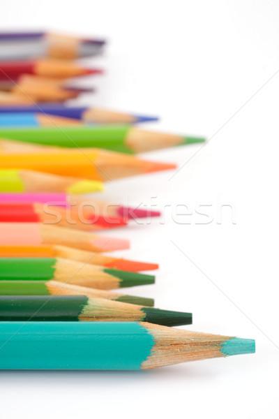 Renk kalemler beyaz stüdyo yalıtılmış kalem Stok fotoğraf © Tatik22