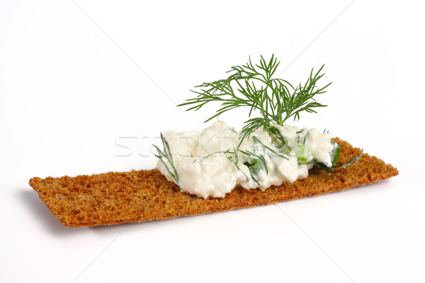 delicious crispbreads with cottage cheese and fennel Stock photo © Tatik22