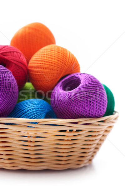 Mand handwerk draad witte ambachten naaien Stockfoto © Tatik22