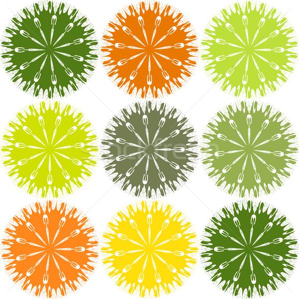 Abstractie abstract Rood plant patroon mooie Stockfoto © Tatik22