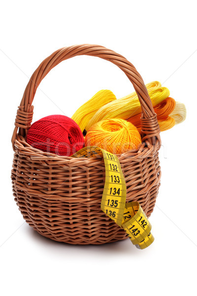 Craft basket, isolated Stock photo © Tatik22