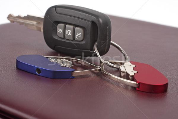 Halka anahtar kırmızı gümüş Stok fotoğraf © Tatik22
