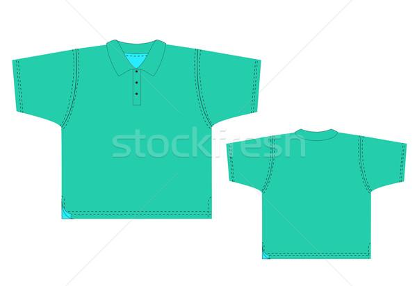 Tshirt vektör ayarlamak örnek vücut mavi Stok fotoğraf © Tatik22