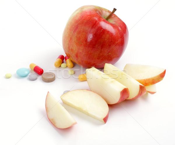 Elma tıbbi grup kırmızı eczane tablet Stok fotoğraf © Tatik22