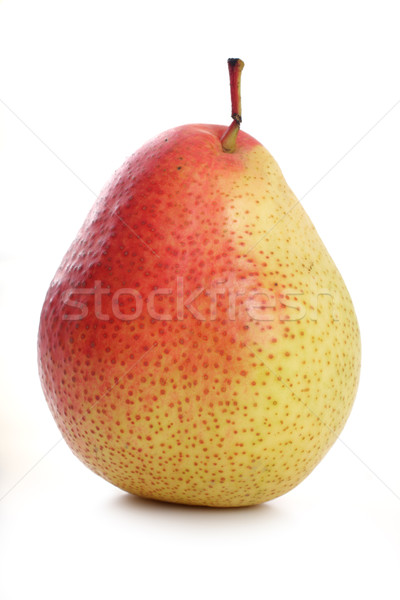 Armut beyaz meyve arka plan kırmızı Stok fotoğraf © Tatik22