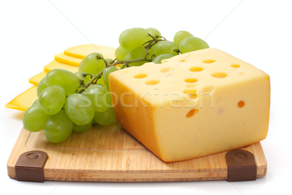 Cheese and grapes Stock photo © Tatik22