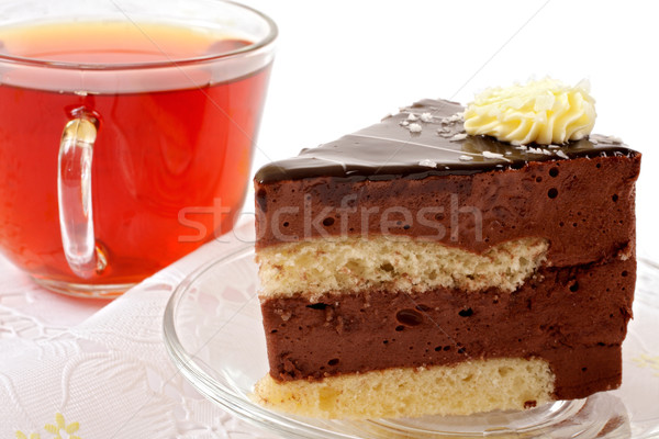 tea cup and cake slices Stock photo © Tatik22