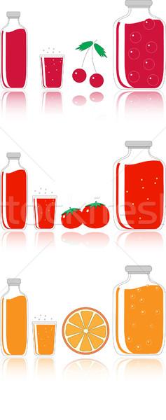 cherry, tomato and orange juice Stock photo © Tatik22
