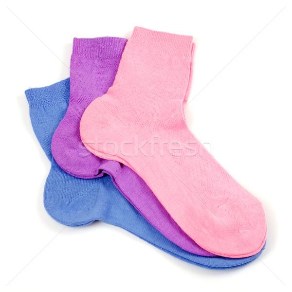 çorap pembe beyaz moda ayak Stok fotoğraf © Tatik22