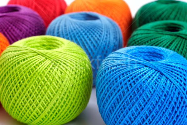 colorful balls on a white background Stock photo © Tatik22
