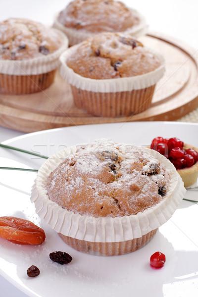 Some small round fruitcakes with raisin.  Stock photo © Tatik22