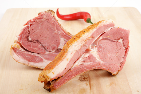 Füme et kırmızı biber yağ Stok fotoğraf © Tatik22