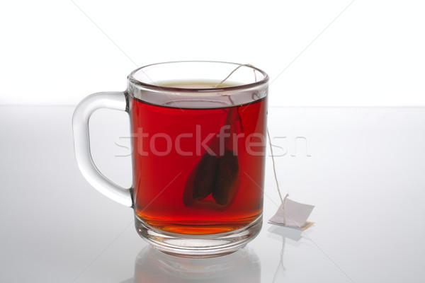 Cam çay çanta son Stok fotoğraf © Tatik22