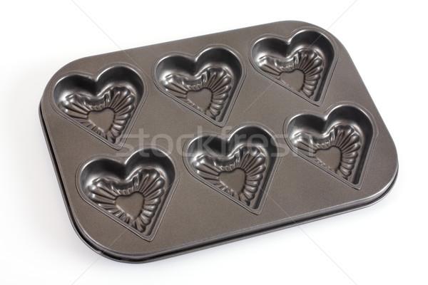 Muffins pan alimentare cuore cucina chef Foto d'archivio © Tatik22