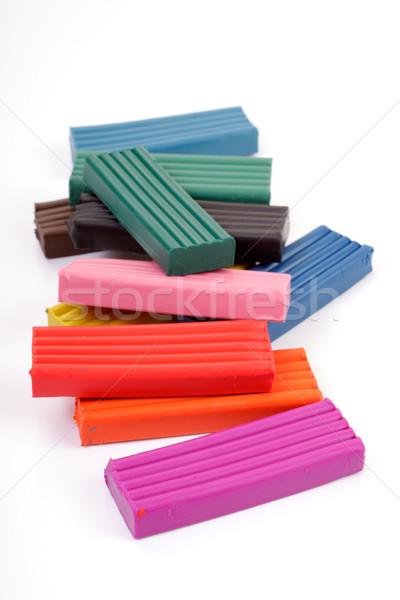 Renkli arka plan eğitim eğlence oyuncak beyaz Stok fotoğraf © Tatik22
