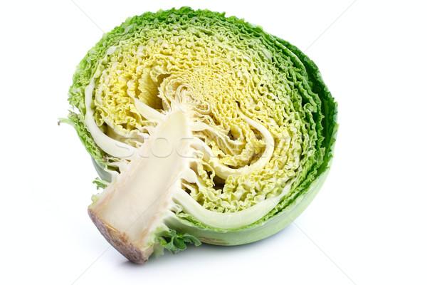 half a savoy cabbage on a white background Stock photo © Tatik22
