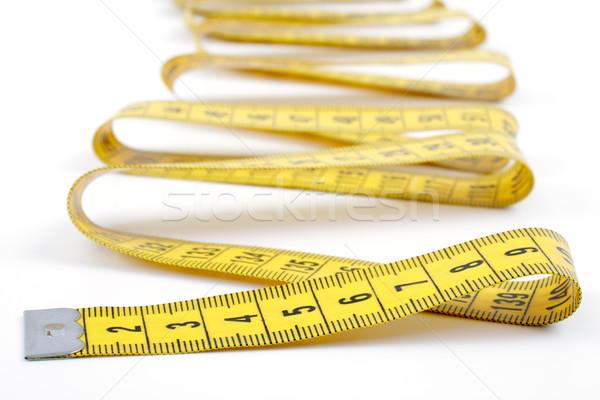Fita métrica branco amarelo governante isolado Foto stock © Tatik22