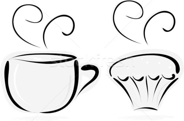 cup of tea and cake Stock photo © Tatik22