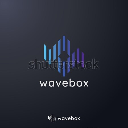 Stockfoto: Abstract · audio · signaal · golf · pols · logo