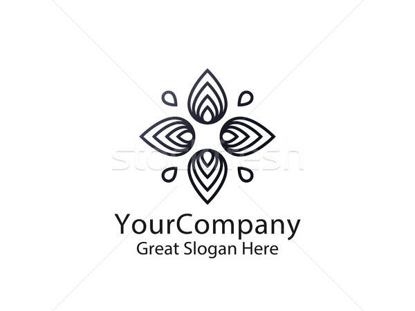 abstract leaf star sun logo. natural nature tree concept design Stock photo © taufik_al_amin