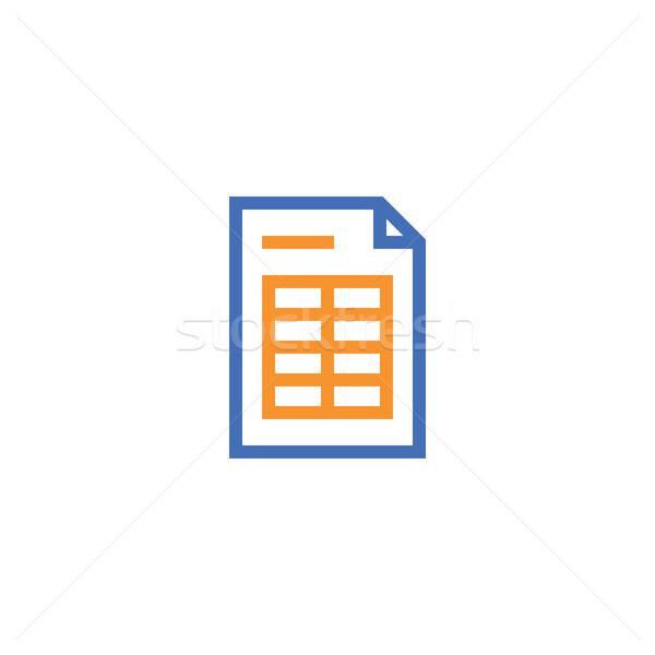 Belge kâğıt ikon yalıtılmış Stok fotoğraf © taufik_al_amin