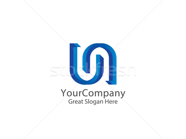 letter UN link logo icon. abstract alphabet sign design. vector Stock photo © taufik_al_amin