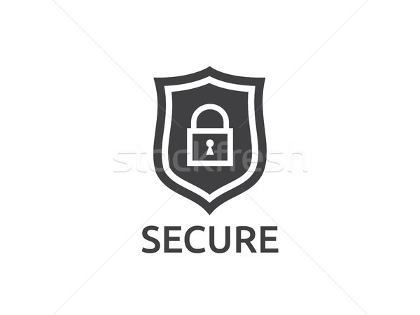 Foto d'archivio: Scudo · line · icona · internet · sicurezza · vettore