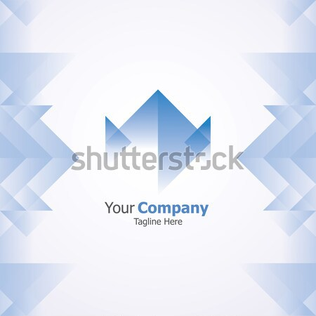 abstract box logo. Business logo concept with cube background vector illustration. Stock photo © taufik_al_amin