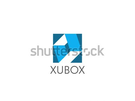 abstract cube box letter o concept for corporate business or gaming logo icon. symbol template Vecto Stock photo © taufik_al_amin