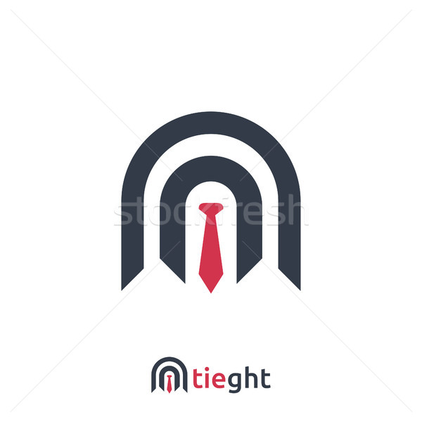abstract Business Logo with tie sign design Template Vector illustration Stock photo © taufik_al_amin