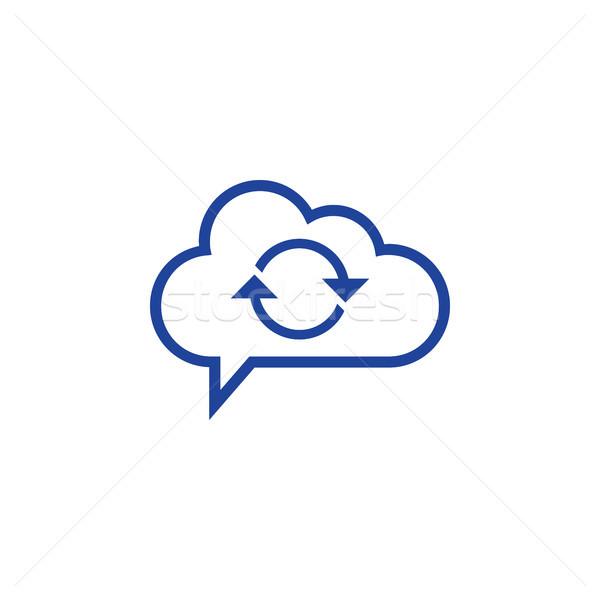 Foto stock: ícone · negócio · computador · internet · assinar