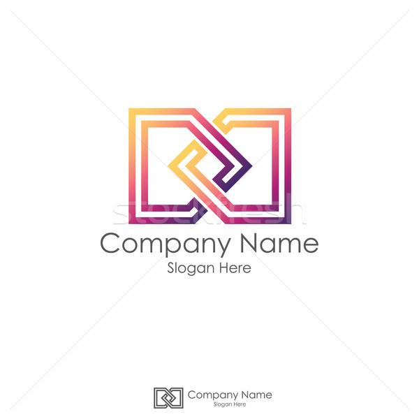 infinity initial letter DD. letter D logo design. linked square  Stock photo © taufik_al_amin
