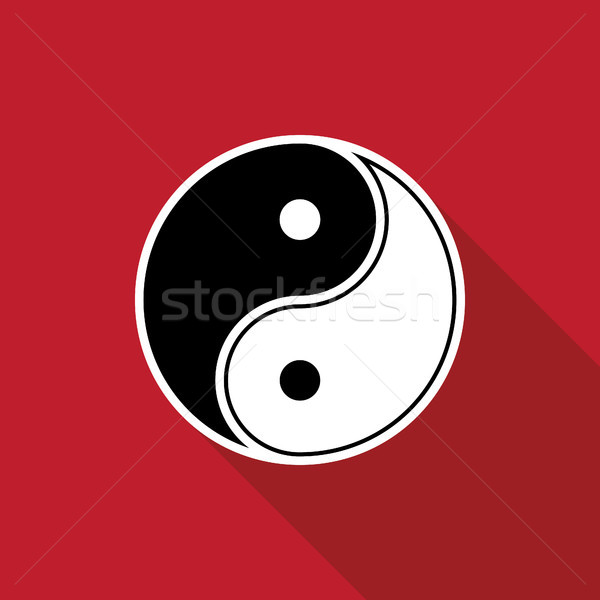 Yin yang logo symbol icon vector illustration Stock photo © taufik_al_amin