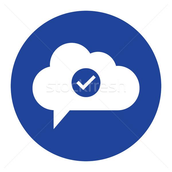 Nuvem verificar ícone computing computador internet Foto stock © taufik_al_amin